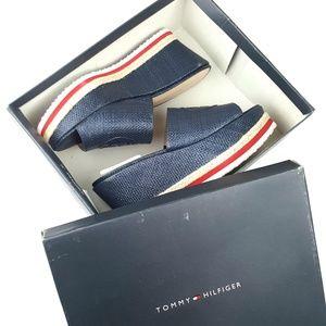 d7290e843af Tommy Hilfiger Shoes - Tommy Hilfiger Batist Navy Platform Sandal NWT